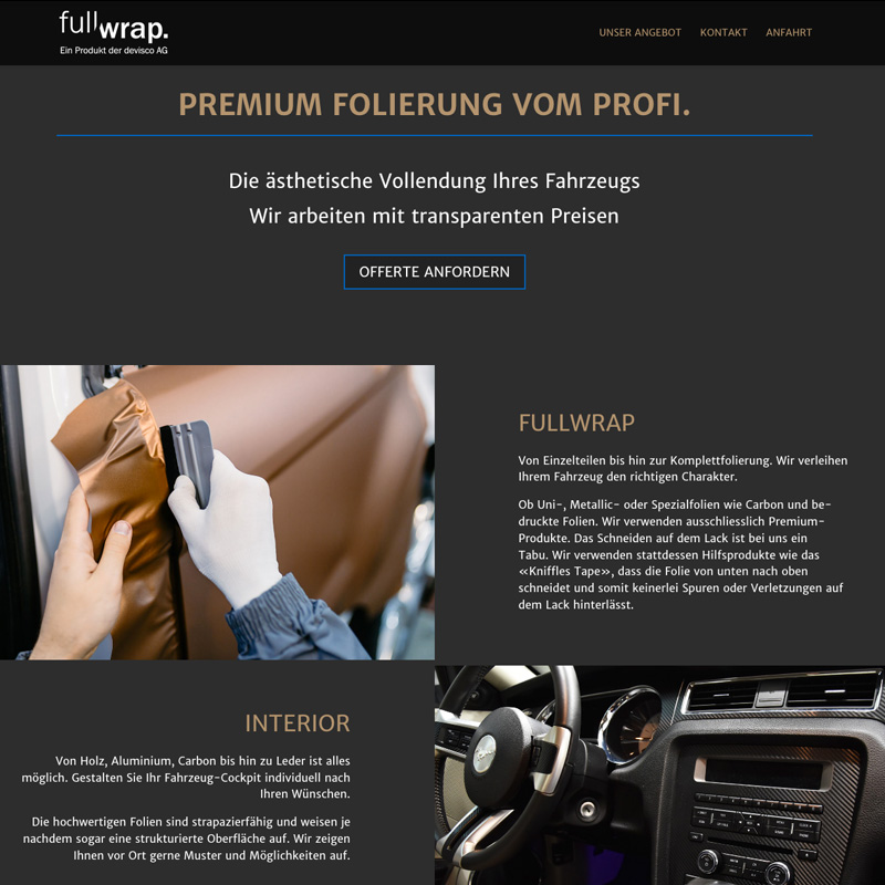Homepage fullwrap.ch